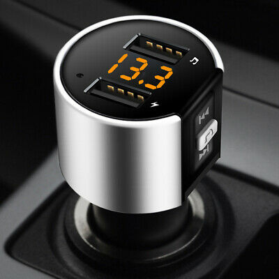 Car Radio FM Transmitter Wireless 3.4A Charger USB MP3 Bluetooth Player Adapter