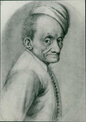 Drawing of an old man - Vintage photo