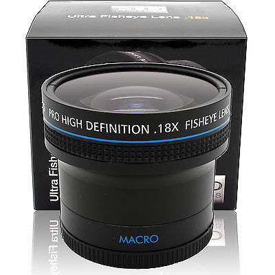 0.18x Angle Ultra Large Objectif Fisheye pour Canon Ef 50mm F/1.8 & 24mm F/2.8