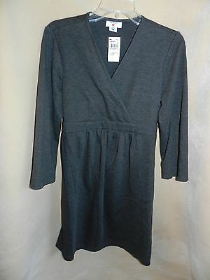 Two Hearts Maternity dress size L Large Charcoal Gray 3/4 sleeve Jersey knit NWT