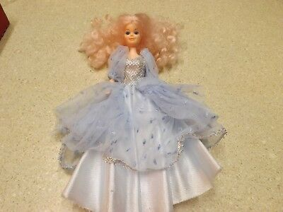 VTG Blue Silver Formal Party Dresses Evening Gown Clothes For Barbie Doll Dress