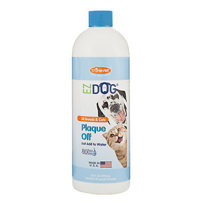 EZ DOG Plaque Off Fresh Breath All-Natural Drinking Water Additive for Dogs and