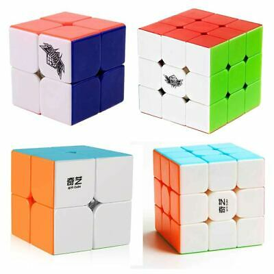 Magic Cube 2x2 3x3 Stickerless Fast Speed Cube Puzzle Rubiks Classic Twist Toy