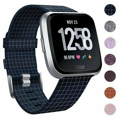 Replacement Woven Canvas Band Strap Sport Wristband For Fitbit Versa Smart Watch