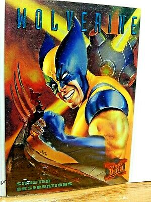 Woverine Marvel 1995 Fleer Muy Carta Limitado 10/10 Sinister Observations