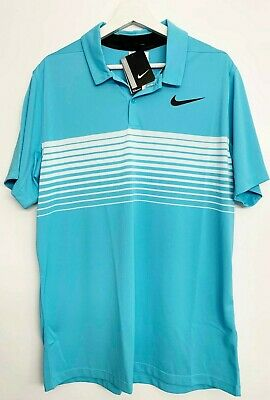 c295950f NEW Men's Nike Golf Mobility Speed Stripe Polo Short Sleeve Shirt Size L