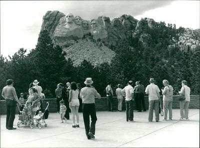 Work of Gutzon Borglum the Mount Rushmore National Memorial - Vintage photo