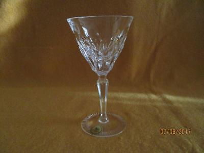 """Germany Hutschenreuther Etched Crystal Wine Glass 6"""" T X 3.25""""W Excellent"""