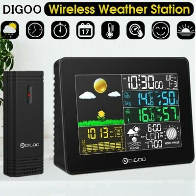 DIGOO Wireless Full-Color Barometric Weather Station Thermometer+ Outdoor Sensor