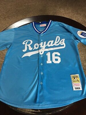 size 40 d35c4 9118c MLB KANSAS CITY Royals Bo Jackson 1989 Throwback Mitchell & Ness jersey-  Size 54