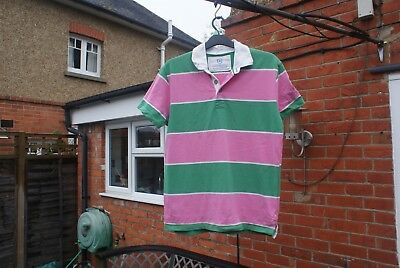 Lions Rampant Rugby Shirt Size L, Limited Edition Colour Pink & Green