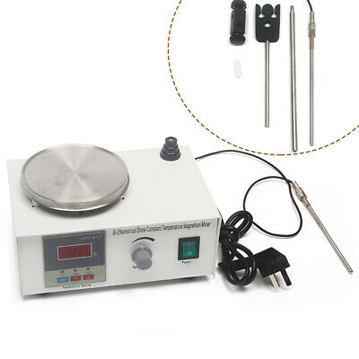 Magnetic Stirrer Mixer With Hot Plate Heating Digital Thermostatic Stir Bar AU