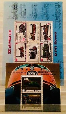 * Trains Transport - 2 Souvenir Mini Sheets Thematic Topical Stamps 03070418 *