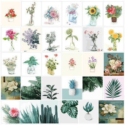 Tropical Leaves Cactus Flowers 40X50CM Paint By Number DIY Painting Canvas Frame