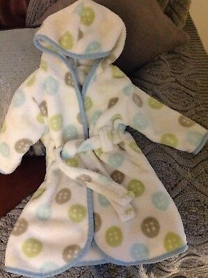 NEW -BABY GIFT Designer Dressing gown by Beansprout unisex fit 0-9 Months
