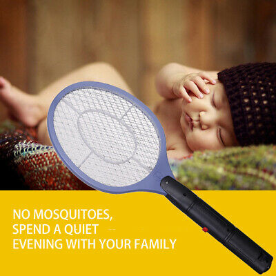 Electric Handheld Bug Zapper Racket Room Mosquito Fly Swatter Killer Insects Bat