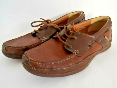 1b3194c766d Mephisto Spinnaker Air-Relax Boat/Deck Shoes 2 Tone Brown Leather Men's 9.5  US