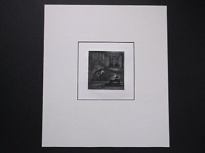 Charles West Cope Etching Milton's Dream Junior Etching Club 1857