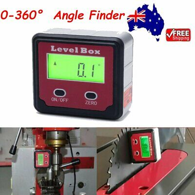 0-360° Digital LCD Level Box Inclinometer Protractor Bevel Gauge Angle Finder HQ