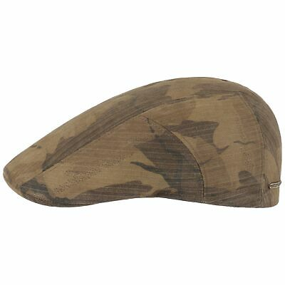 3c30ef19 Stetson Waxed Cotton Camouflage Flat Cap Men Winter hats ivy hat rain cap