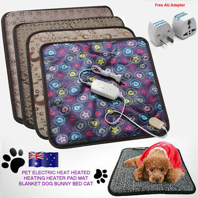 AU Pet Electric Heat Heated Heating Heater Pad Mat Blanket Bed Dog Cat Bunny