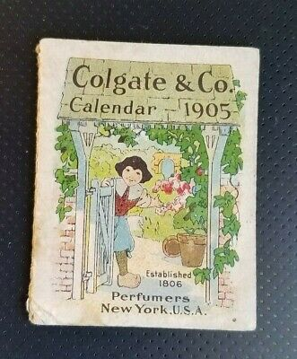 1905 Advertising Premium Color Litho Calendar Booklet Colgate & Co Perfumers NY