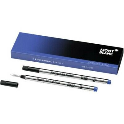 Mont Blanc Blue Medium Rollerball Refills - Set of 3 - 105159
