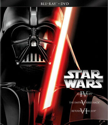 Star Wars Trilogy Episodes IV-VI (6 Disc, Blu-ray + DVD) BLU-RAY NEW