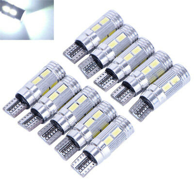 T10 White 5630 LED 194 W5W 10 SMD Canbus Error Free Car Side Wedge Light Bulb MA