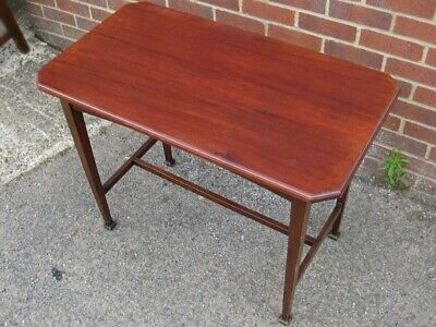 Victorian antique Arts & Crafts solid mahogany console occasional hall table