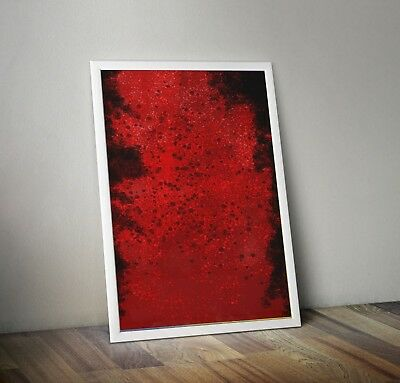 Abstract Prints Printable Wall Decor Downloadable Red Christmas Jerry Goldsmith