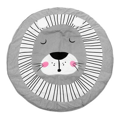 90CM Kids Play Game Mats Round Carpet Rugs Mat Cotton Crawling Blanket Floo L2N6