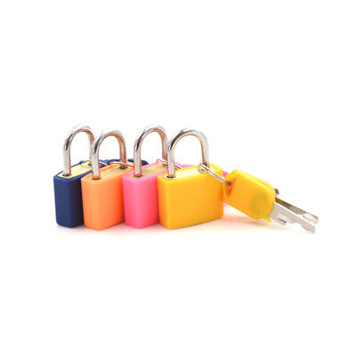 Small Strong Steel Padlock Travel Suitcase Drawer Dormitory Locks With 2Key $TCA