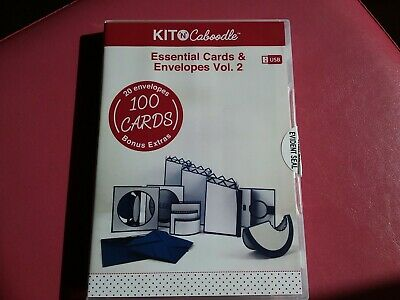 Kit N Caboodle 'Essential Cards & Envelopes Vol 2' Usb Svg Files Resizeable