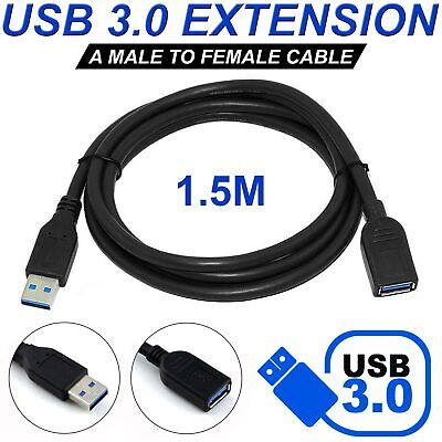 1.5 M USB 3.0 Extension Extender Cable Cord M/F Standard Type A Male to Female