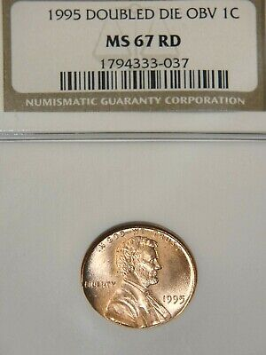 1995 Lincoln Cent DOUBLED DIE NGC MS67 Bright Red Stunning Luster, PQ #GB106