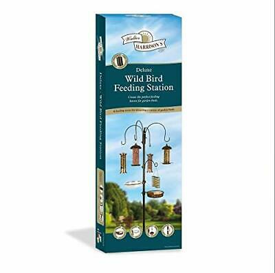 Wild Bird Feeding Station with Feeders Water Dish & Seed Tray Perfect for Garden