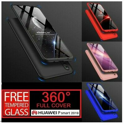 For Huawei P Smart 2019 360° Full Protective Hybrid Case + Tempered Glass Cover