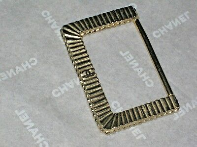 CHANEL Vintage CC LOGO Belt Buckle MATTE GOLD  tone   2 1/4'' X AROUND  1 1/2''