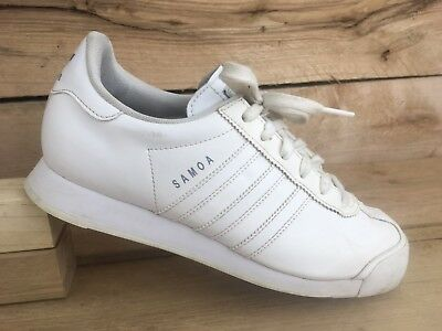 ADIDAS ORIGINALS SAMOA All White Leather Big Kids Size