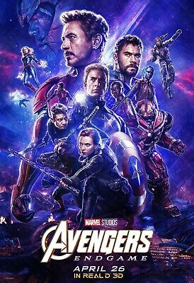 Avengers End Game Real 3D Movie Poster Canvas 20X30 Glossy Photo Paper 24X36