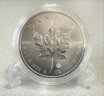 2019 1 oz Canadian Silver Maple Leaf $5 coin BU .9999 pure