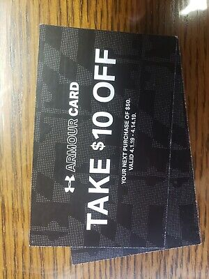 $10 OFF WHEN YOU SPEND $50 UNDER ARMOUR GIFT CODE US or Canada expired 4/14/19