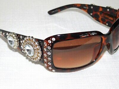 2d2c7b1774a Montana West Tortoise Color Bling Sunglasses SGS-001 Western Cowgirl Womens   59