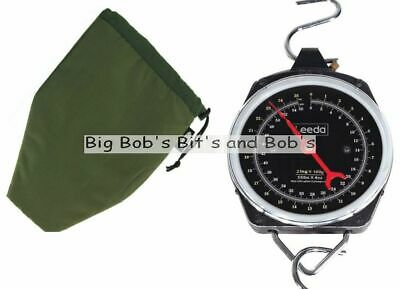 NEW Leeda Weighing Scales Carp Fishing Dial Scales 55lb + Pouch Case Soft Bag