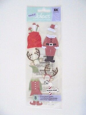 A Touch Of Jolees Boutique Christmas Santa & Elf Scrap Booking Stickers