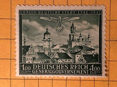 GERMANY POLAND (General Gouvernement) 1943 WWII-GERMAN OCC. 1+1 Zl.  MNH /s9