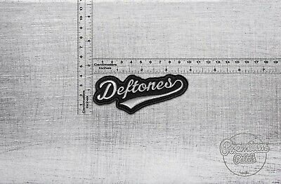"Deftones logo badge patch 10cm x 4,5cm / 4"" x 1,77"""