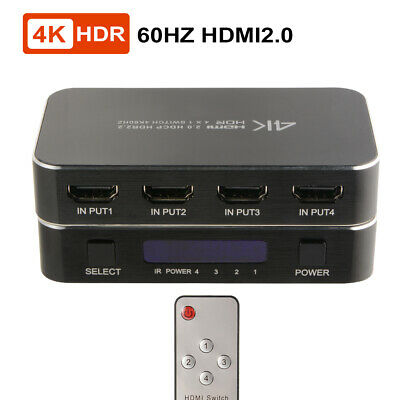 3bebca5a79bd8 4K HDMI 2.0 HDCP 4 x 1 Switch + IR Remote+ USB Power Cable for ...