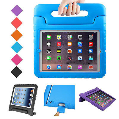 Kids Safe Handle Shock Proof EVA Heavy Duty Stand Protective Case Cover For iPad